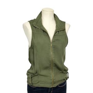 Angel Kiss Army Green Zip Up Vest Size S